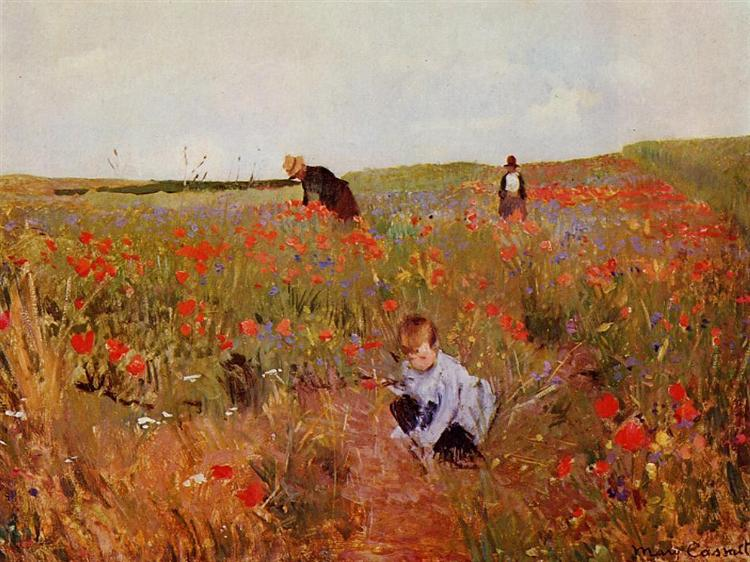 Mary Cassatt Red Poppies